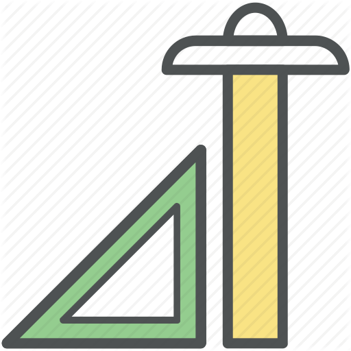 Architecture, Drafting, Drafting Triangle, Ruler, T Square, Tools Icon
