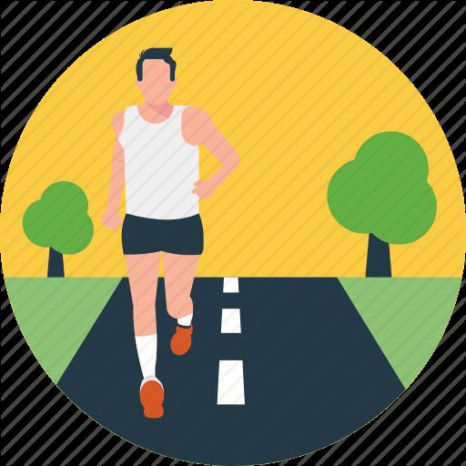Morning Walk, Running, Running Exercise, Sports, Workout Icon