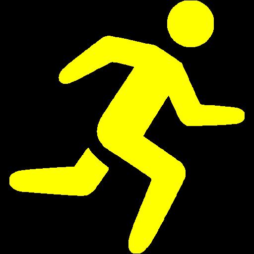 Yellow Running Icon