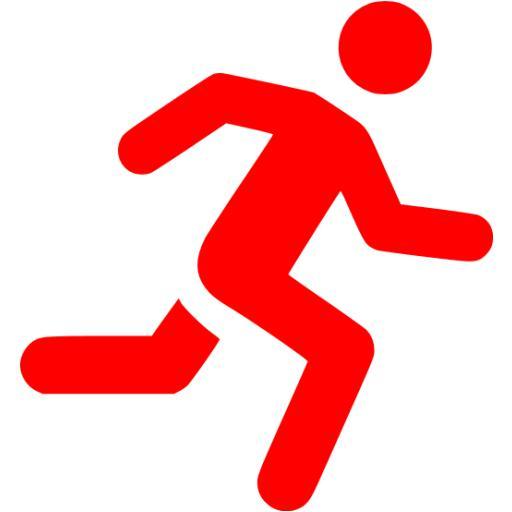 Red Running Man Icon
