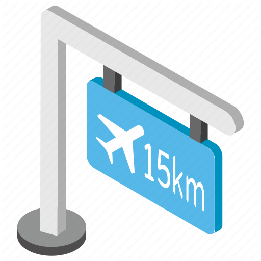 Airport Area, Airport Direction, Airport Guidepost, Airport