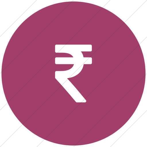 Flat Circle White On Pink Bootstrap Font Awesome Rupee Icon