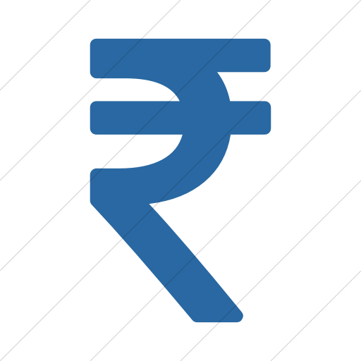 Simple Blue Bootstrap Font Awesome Rupee Icon