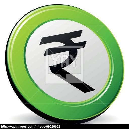 Vector Green Rupee Icon Vector