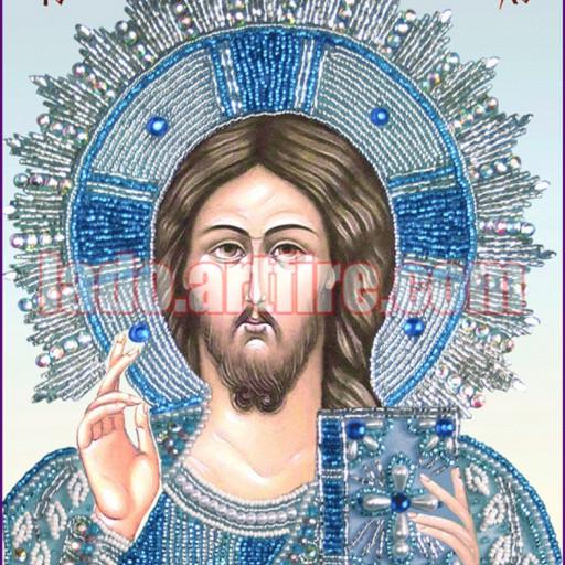 Beaded Embroidery Diy Kit Orthodox Wedding Icon Christ Pantocrator
