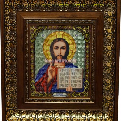 Christ Pantocrator Orthodox Bead Embroidered Icon Lado On Artfire