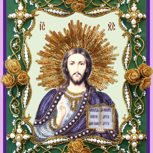 Christ Pantocrator Religious Picture Diy Bead Embroidery Kit