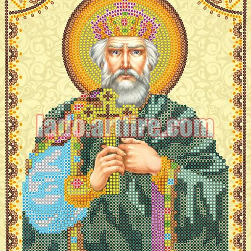 Holy Prince Vladimir Orthodox Icon Bead Embroidery Diy Kit Lado
