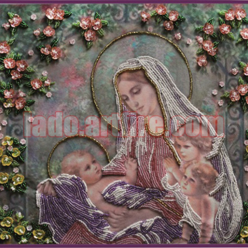 Tenderness Religious Picture Diy Bead Embroidery Kit Beaded