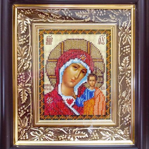 Virgin Mary Kazanska Orthodox Wedding Icon Beaded Embroidery Kit