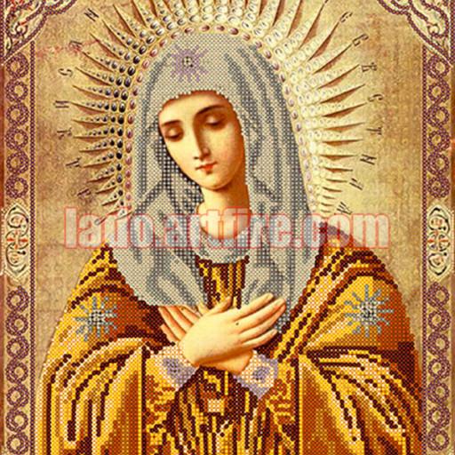 Virgin Mary Tenderness Icon Diy Bead Embroidery Kit Beaded