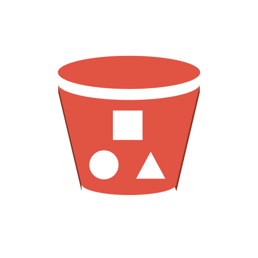 Amazon, Bucket, Content, Delivery, Objects, Storage, With Icon