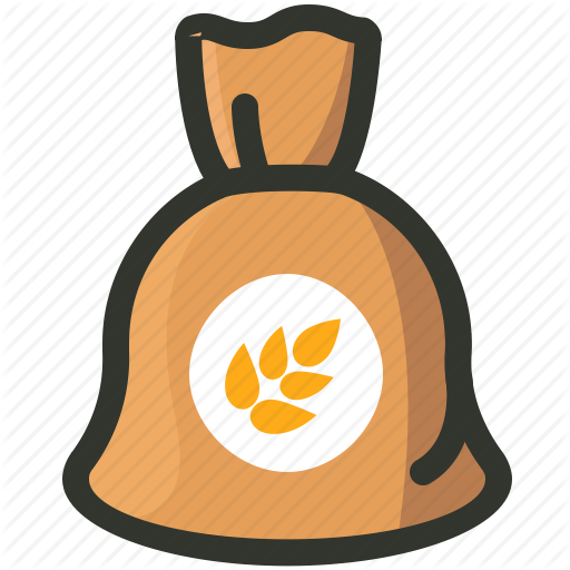 Cereal, Food, Grain, Rice, Sack, Wheat Icon