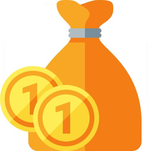 Iconexperience G Collection Moneybag Coins Icon