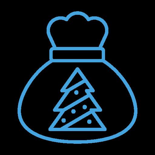 Tree, Christmas, Gift, Present, Bag, Sack Icon