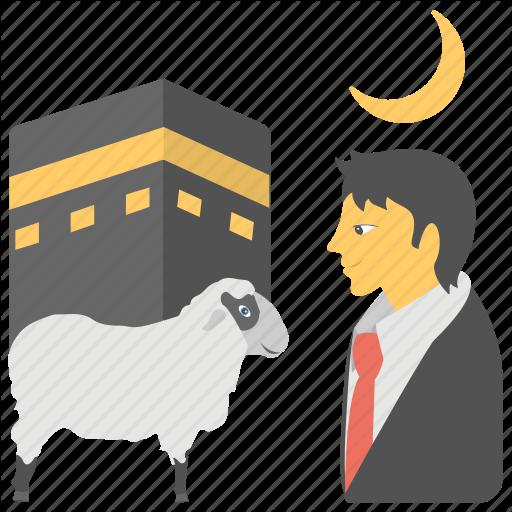 Eid Ul Adha, Eid E Qurban, Hajj, Pilgrimage, Sacrifice Feast Icon
