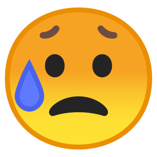 Sad But Relieved Face Icon Noto Emoji Smileys Iconset Google