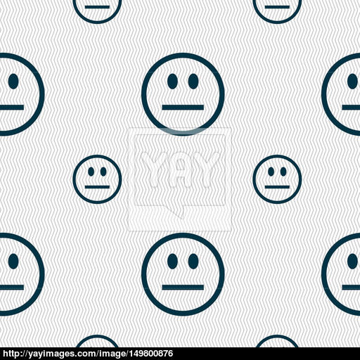 Sad Face, Sadness Depression Icon Sign Seamless Pattern