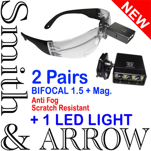 Bifocal Safety Glasses With Light Magnifier Lens Eye