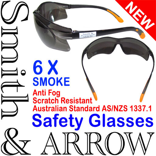 Smoked Safety Glasses Lens Eye Protection Protective Eyewear