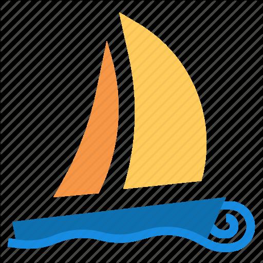 Boat, Sailboat Icon