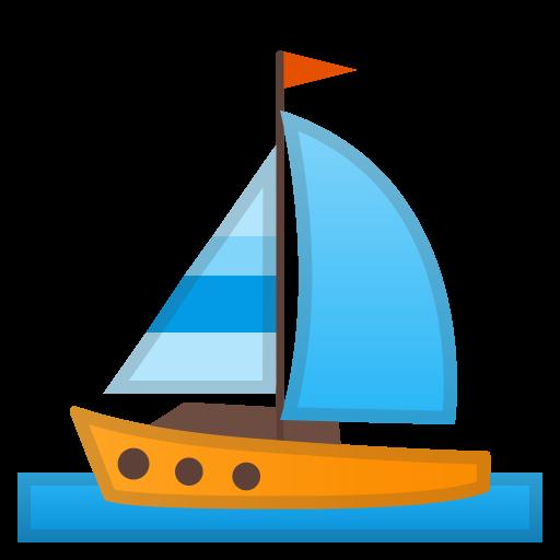 Sailboat Icon Noto Emoji Travel Places Iconset Google