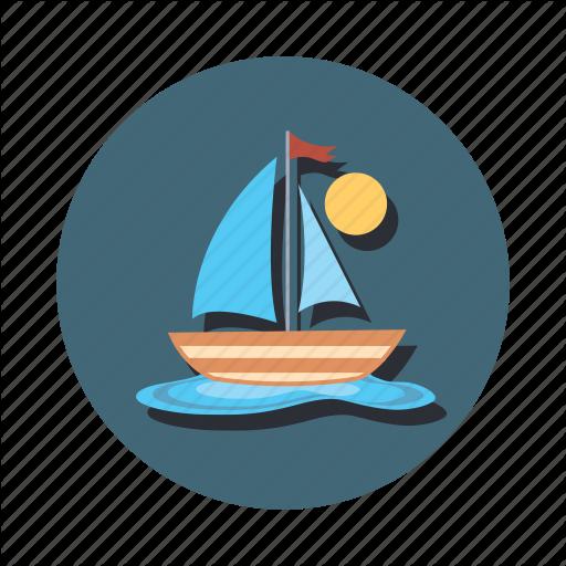 Boat, Boating, Sail, Sailing, Ship Icon
