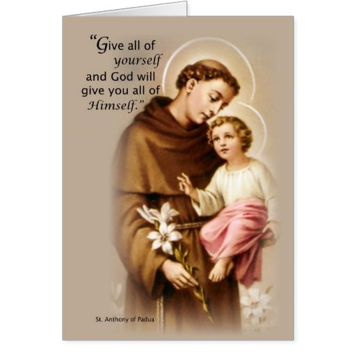Blessings Feast Of St Anthony Card Saints Feast