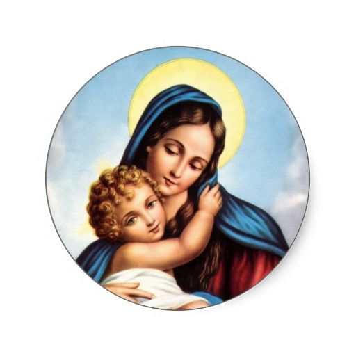 Madonna And Child Stickers Art Mother Mary
