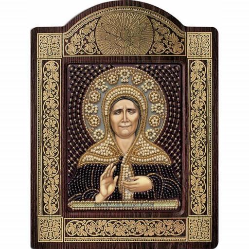 Orthodox Icon Saint Matrona Beaded Embroidery Kit Diy Mega