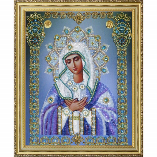 Orthodox Icon Virgin Mother Of God Beaded Embroidery Kit Diy