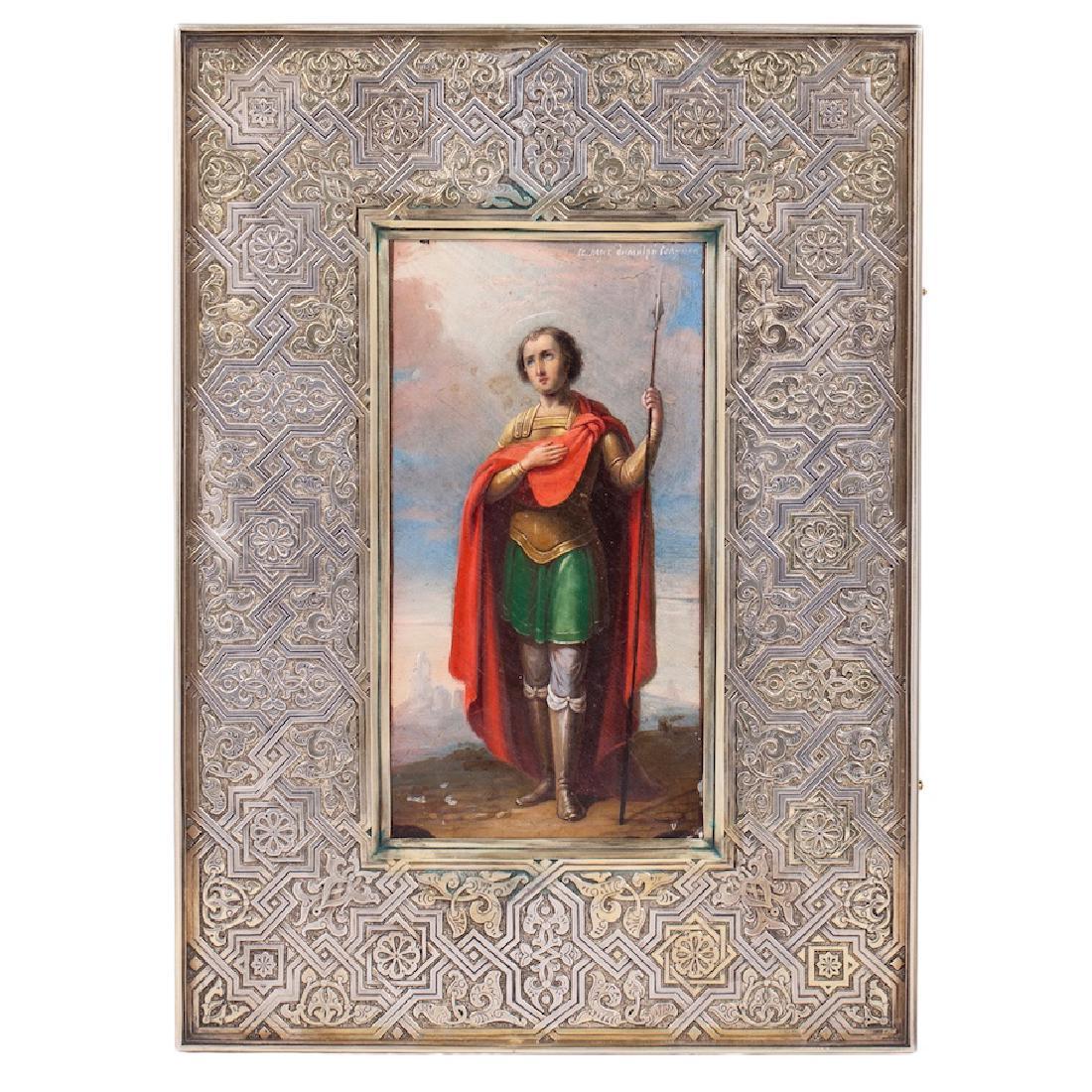 P Ovchinnikov Icon Of Saint Dimitriy Solunskiy
