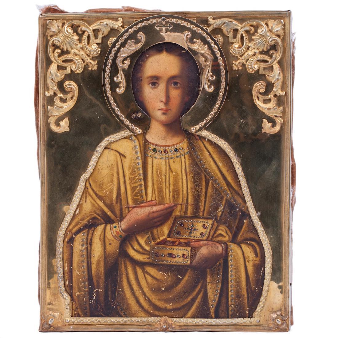 Russian Icon Of Saint Panteleimon