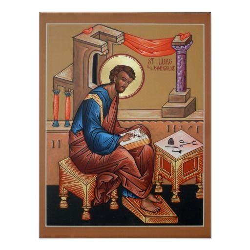 Saint Luke The Evangelist Poster In Christian Posters