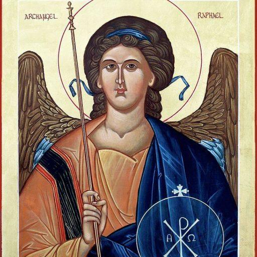 Cropped Saint Raphael Icon The Church Of St Raphael