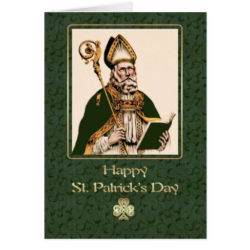 Saint Patrick's Day Religious Greeting Cards St Patrick's Day