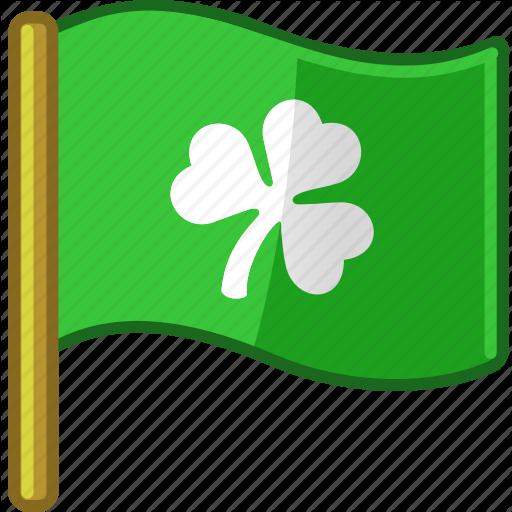 Clover, Flag, Ireland, Irish, Saint Patrick's Day, Shamrock Icon