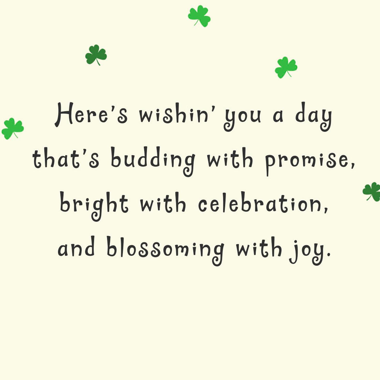 Irish Pug St Patrick's Day Card