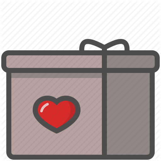 Box, Happy, Heart, Present, Saint Valentine, Valentine's Day Icon