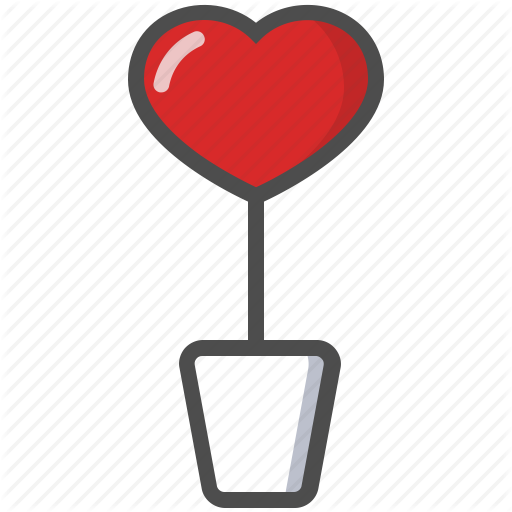 Flowerpot, Heart, Love, Saint Valentine, Valentine's Day Icon