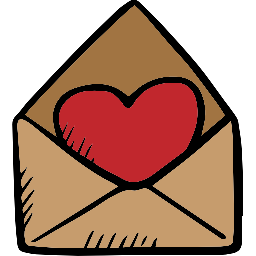 Love Letter, Romance, Valentines, Signs Icon