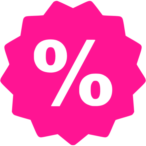 Deep Pink Sale Icon