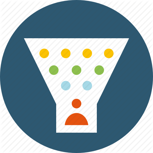Attract, Audience, Client, Conversion, Customers, Filter, Funnel