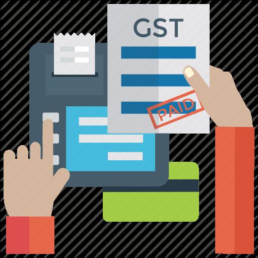 Gst, Sale Tax, Sales Tax Payment, Tax Document, Tax Paid Receipt Icon