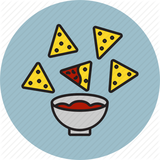 Chips, Dip, Salsa, Sauce, Tortilla Icon