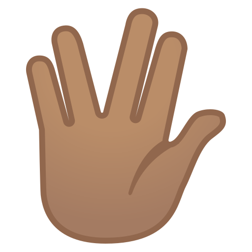 Vulcan, Salute, Medium, Skin, Tone Icon Free Of Noto Emoji People