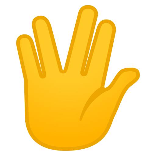 Vulcan Salute Icon Noto Emoji People Bodyparts Iconset Google