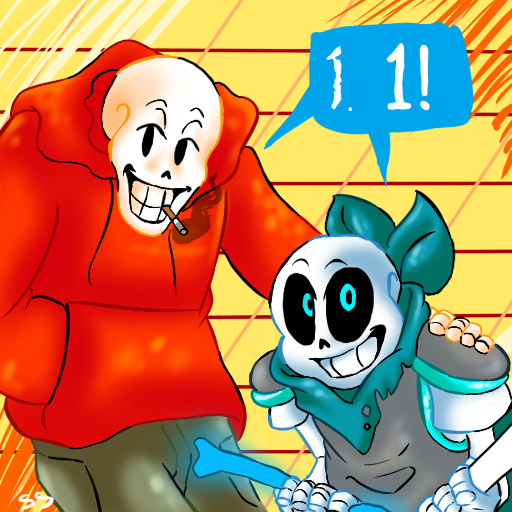 Ask Us!sans And Papyrus Icon