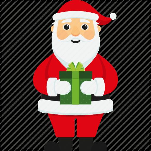 Character, Christmas, Cute, Gift, Santa, Santa Claus, Xmas Icon