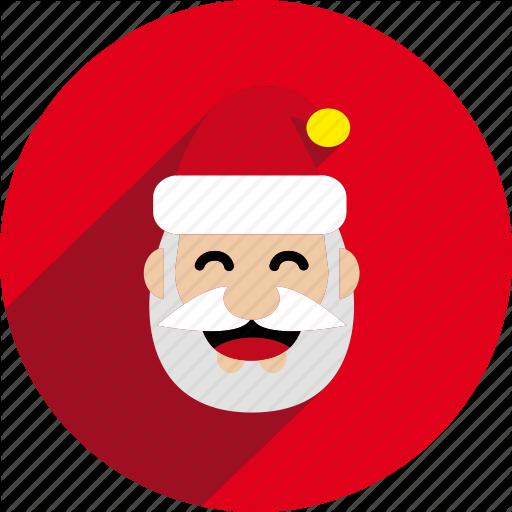 Christmas, Circle, Holiday, Santa, Santa Claus, Xmas Icon